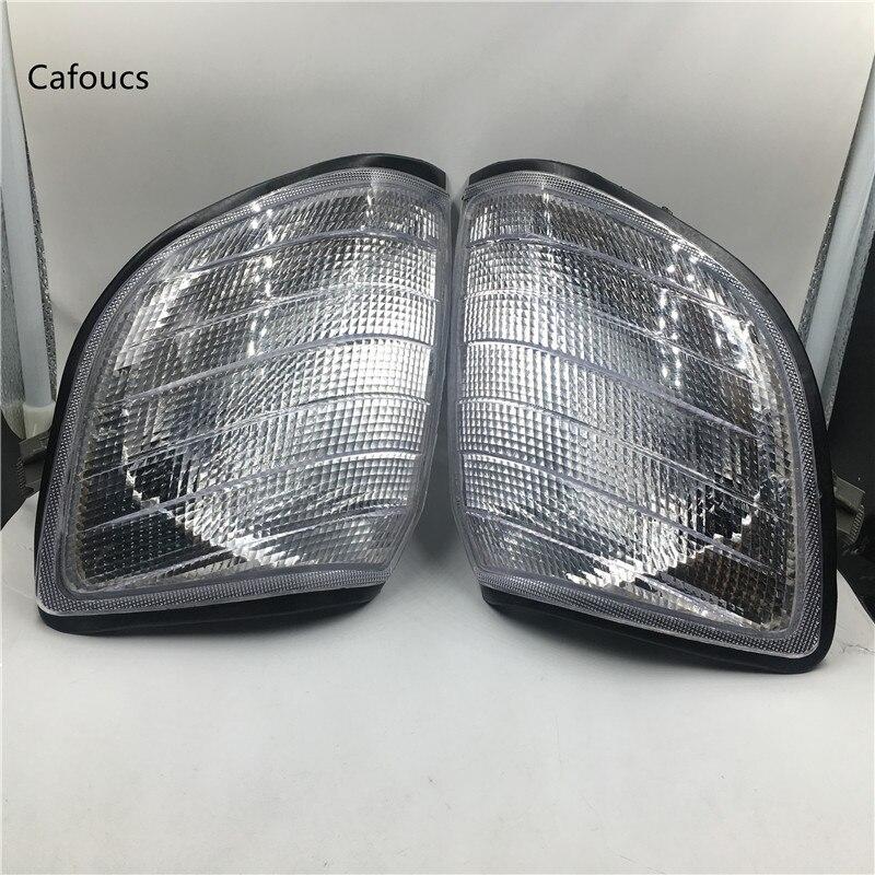 Cafoucs Branco Canto Luz Luzes de Estacionamento Para Mercedes Benz S320 S420 S500 S600 W140 S-Classe 1991-1998