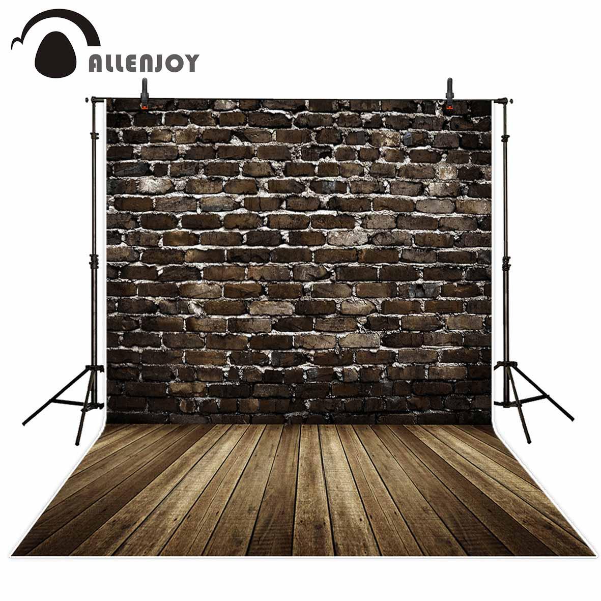 Allenjoy fundos para estúdio de fotos clássico vintage manchado escuro tijolo parede retratos pano de fundo novo design original fantasia adereços