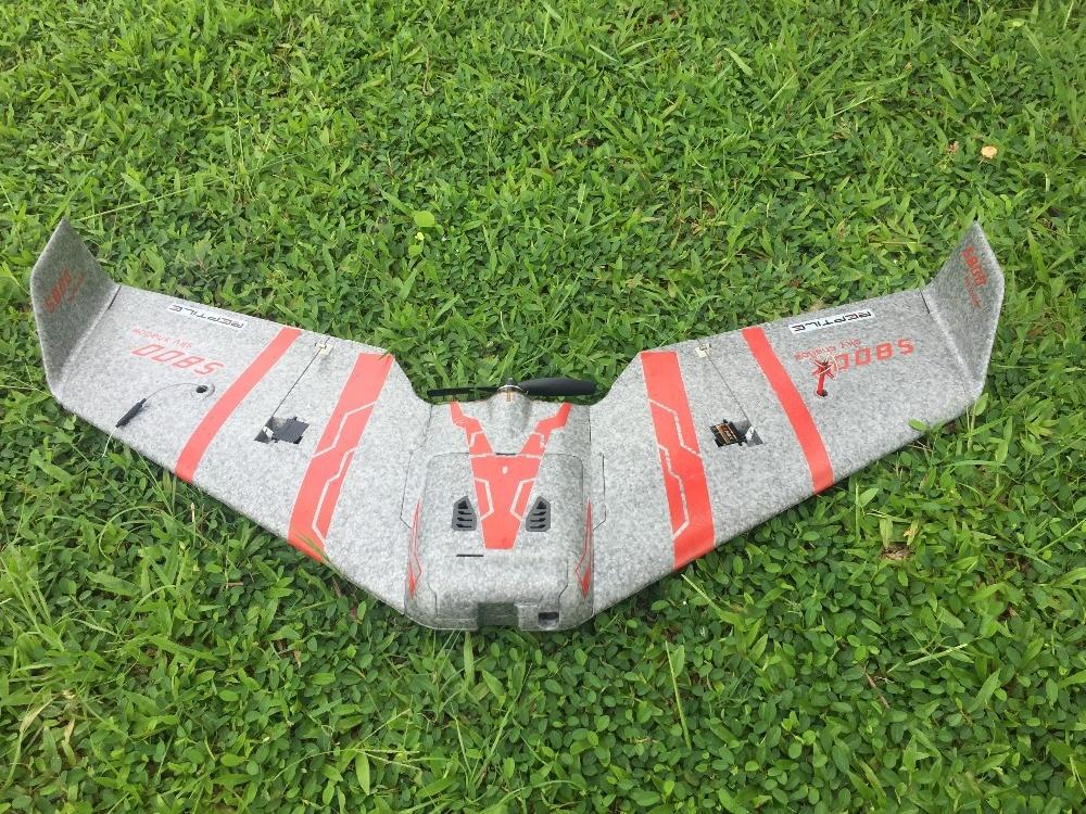 Reptil S800 V2 SKY SHADOW 820mm Wingspan gris FPV EPP KIT de corredor de ala volante de espuma/PNP Selección de peso 170g solamente