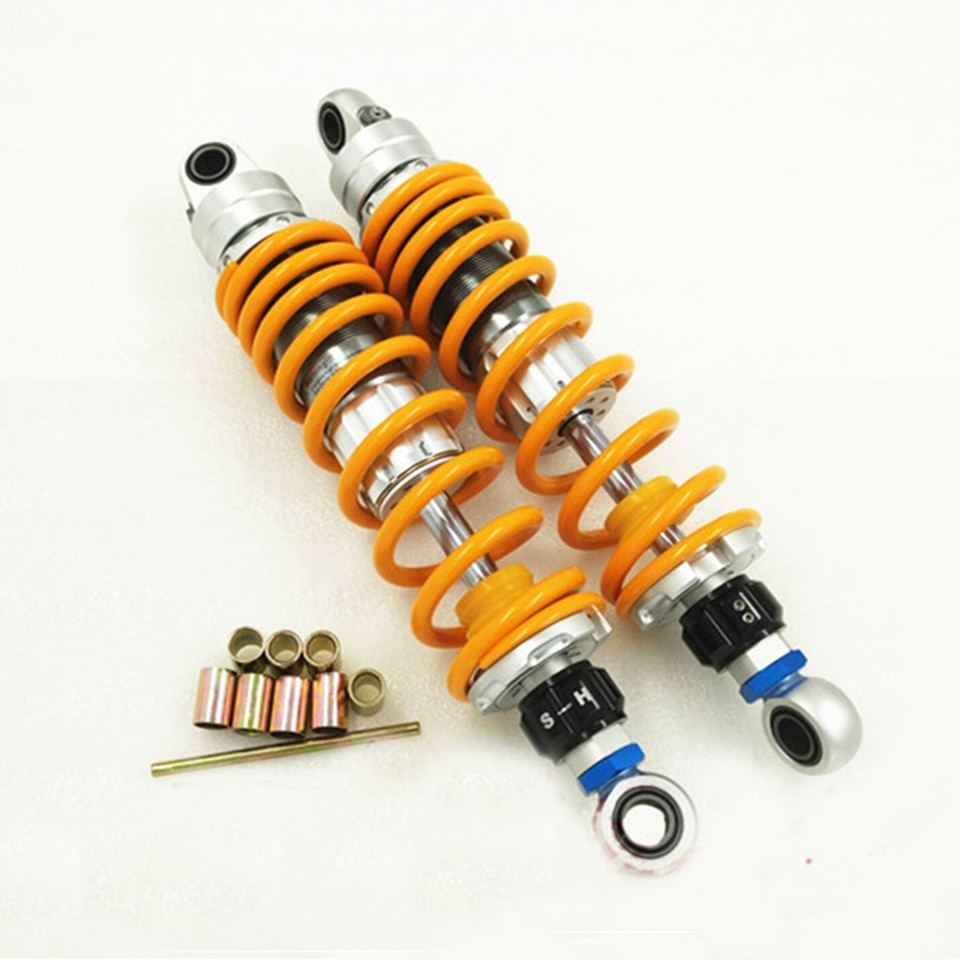 Universal 320/330/340/360mm Motorcycle Rear Shock Absorbers Fit Scooter Dirt bikes ATV&Quad For Honda Yamaha Suzuki Kawasaki 305mm motorcycle rear shock absorbers universal modified fit scooter dirt bikes atv