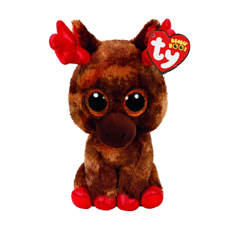 "Ty Plush Animal Doll Maple Elk Soft Stuffed Toys With Tag 6"" 15cm"