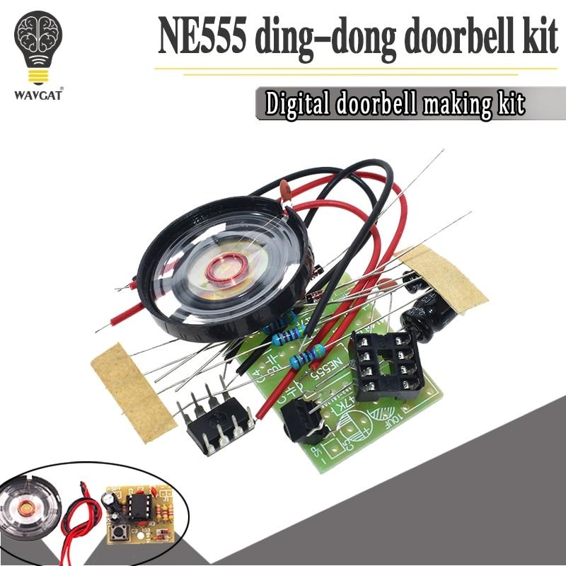 NE555 Doorbell Suite Electronic Production Doorbell Suite DIY Kit Ding dong doorbell PCB welding lab