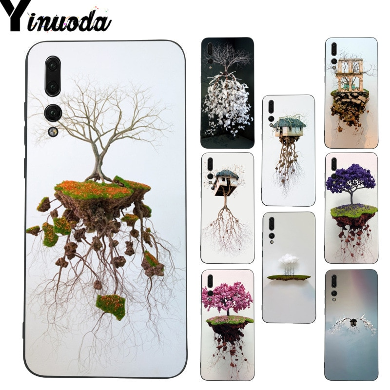 Yinuoda arte árbol tierra esculturas flor nube teléfono funda para Huawei P9 Lite P10 Plus Mate9 10 Mate10 Lite P20 Pro Honor10 View10