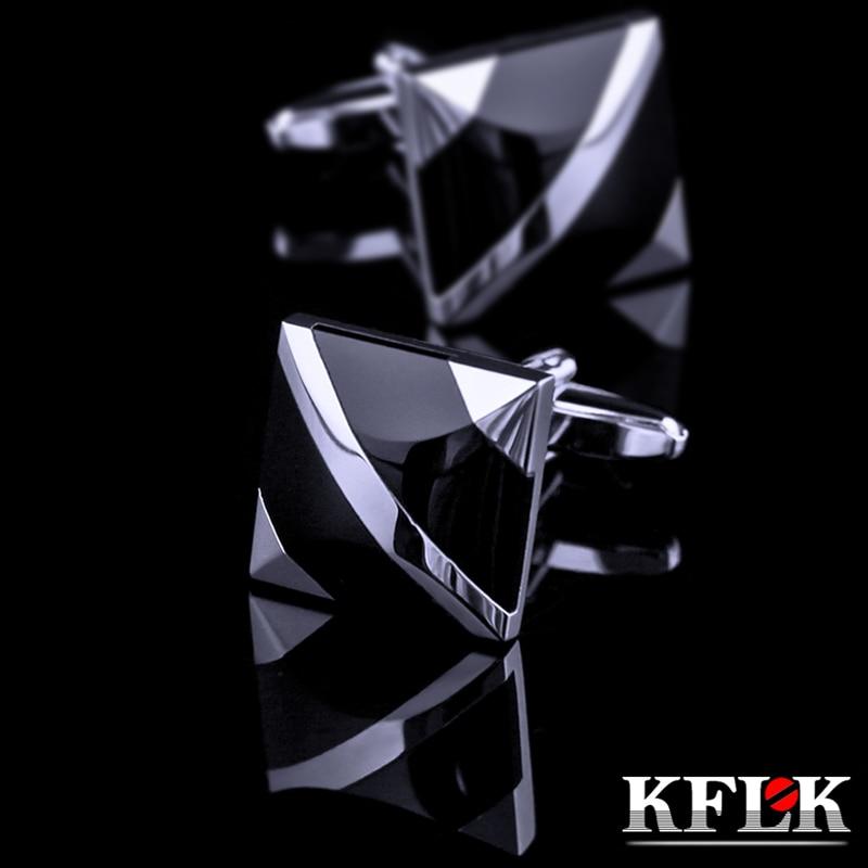KFLK jewelry fashion shirt cufflinks for mens Brand cuff buttons cuff link Black gemelos High Quality abotoaduras guests