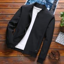 Mens bahar ceketler ve mont katı renk yeni rahat ceket erkekler sıcak satış erkek moda ceket LUYZJZEN Jaqueta Masculina K14