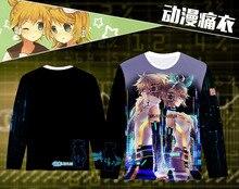 Hatsune Miku Printed Long Sleeve T-shirt Cosplay Costume Snow Miku / Kagamine Rin Len Daily Casual Tee Shirt T