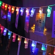 1.5M 3M 6M الصورة حامل قصاصة LED سلسلة مصابيح تدار ببطارية LED الطوق الديكورات للعام الجديد عيد الميلاد الزفاف عيد ميلاد حزب