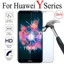 2pcs Gehard Glas voor Huawei Y5 Y6 Y7 Prime 2017 2018 Y9 2019 9y Beschermende Glas Screen Protector Telefoon veiligheid Tremp Film 9h