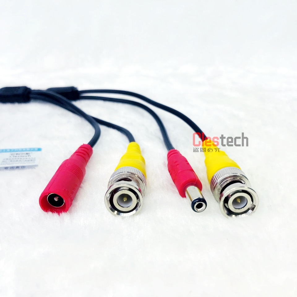 Good Quality 5M WIRE Video Power Cables Camera extend Wires for CCTV DVR Surveillance System with BNC DC Connectors Extension enlarge