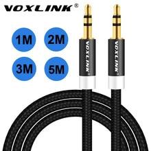 Kabel Audio VOXLINK 1 m/2 m/3 m 3.5mm kabel słuchawek Aux z męskiego na męskie linia kablowa Audio do samochodu iPhone MP3/MP4 zestaw słuchawkowy z głośnikiem