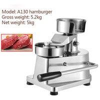 Round stainless steel manual hamburger food processor multifunctional meatloaf forming machine aluminum machine