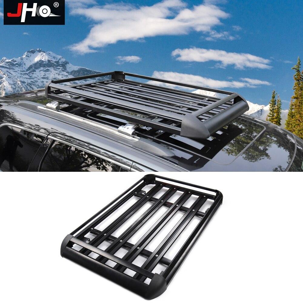 JHO багажник на крышу из алюминиевого сплава грузовой перевозчик багажная корзина для 2011-2018 Ford Explorer 2014-2018 Jeep Grand Cherokee 2015 2016 17