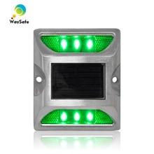 กันน้ำ LED สีเขียวคงที่โหมด solar แผนที่ stud marker
