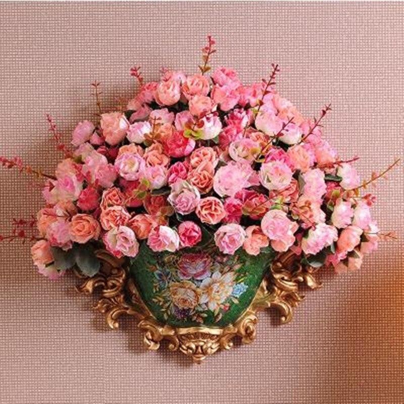 Jarrón de resina de estilo americano, porcelana colgante en la pared, suministros de Decoración de casa de boda