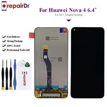 Lcd dorigine 6.4 pour Huawei Nova 4 écran LCD écran tactile numériseur assemblage VCE-AL00/TL00 pour Huawei Nova 4 écran Lcd + cadre