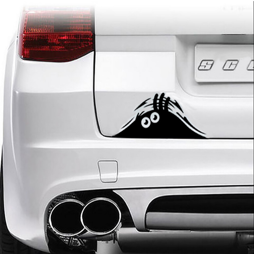 Venda quente engraçado espreitar monstro carro Auto janelas adesivos de carro adesivos de carro adesivos de vinil gráfico ( 19 * 7 cm )