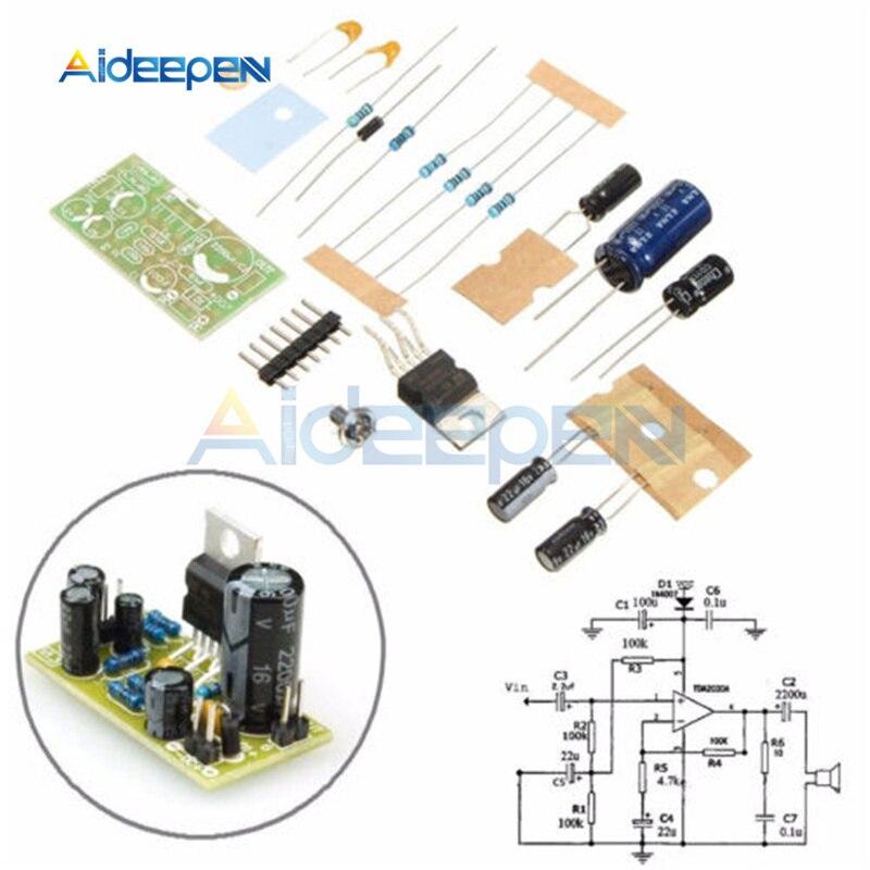 Dc 9 v-24 v 18 w tda2030a amplificador de potência de áudio eletrônico placa mono único kit diy placa de expansão de áudio