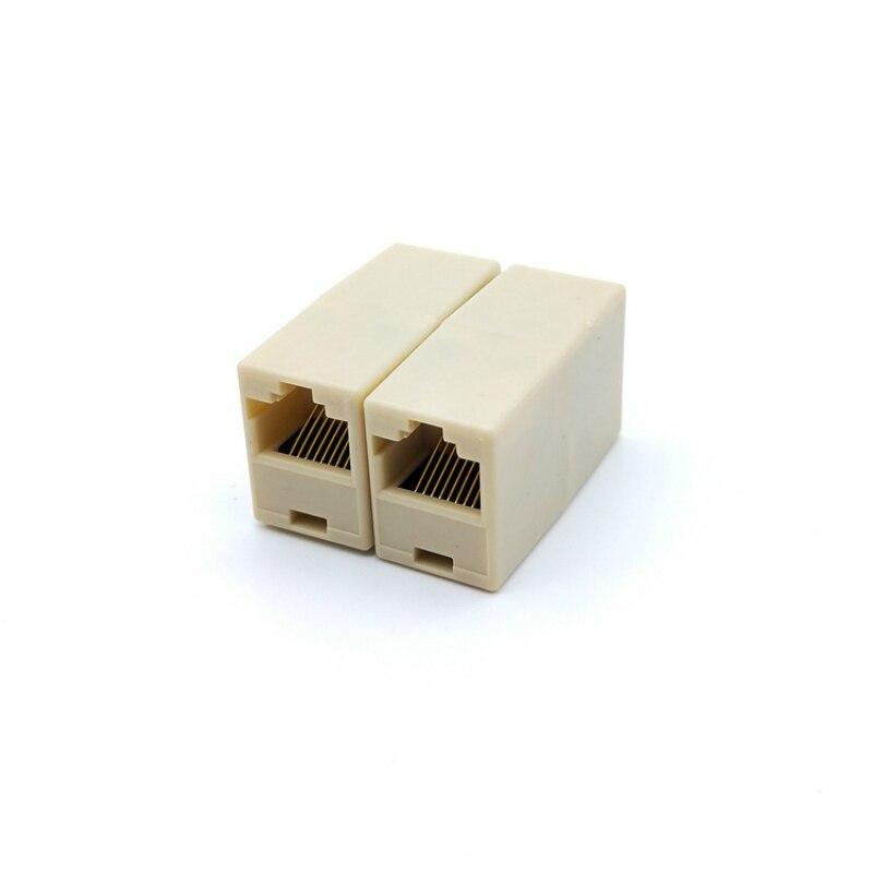 Conector de plástico rj45 cat5, para extensão banda larga ethernet rede lan cabo juntor plug