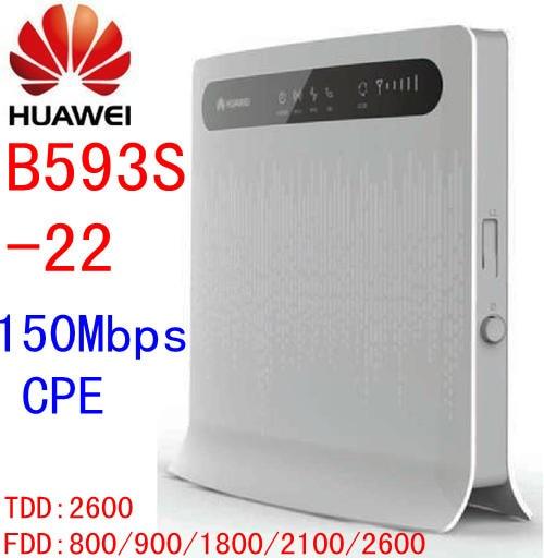 Sbloccato Huawei B593s-22 150Mbps 3g 4G lte CPE mifi Router Senza Fili di wifi 3g 4g Wifi dongle Mobile 4g router rj45 b593