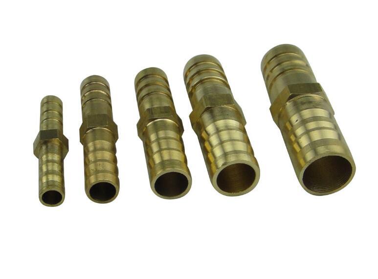 1 Conector de latón 6/8/10/12/14/16/19mm accesorios para mangueras tubo ensamblador conector Unión recta