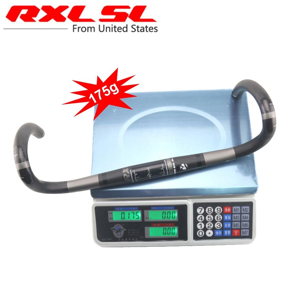RXL SL-مقود دراجات كربونية خفيفة الوزن مع قضبان مثنية ، UD ، 380/400/420/440