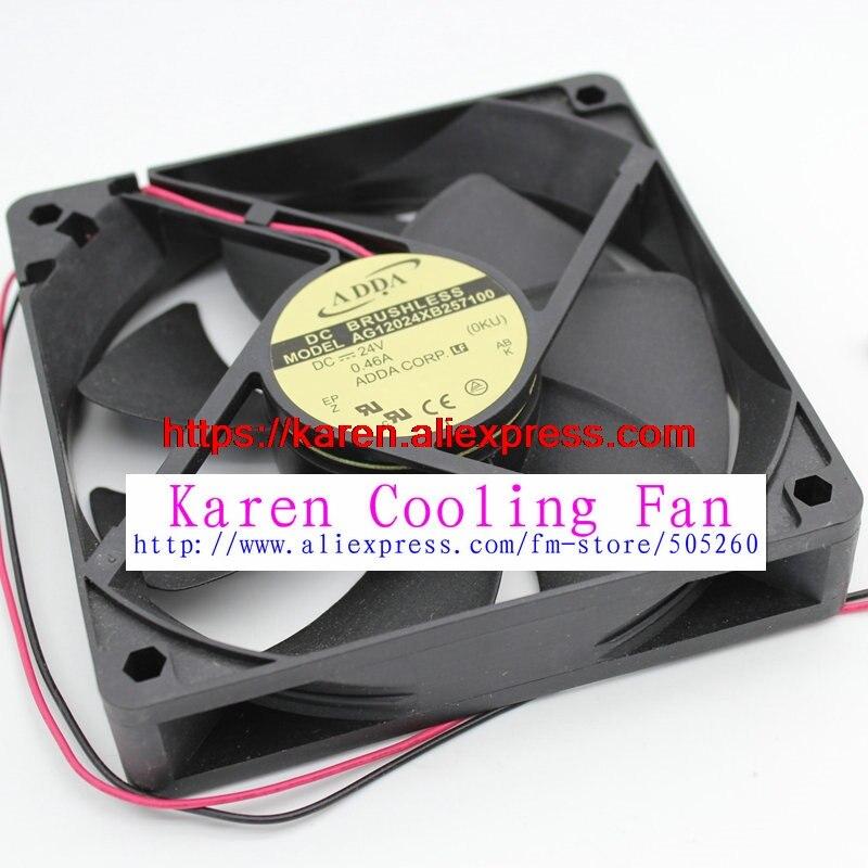 Para adda AG12024XB257100 DC24V 0.46A 120*120*25MM 12 MM ventilador de refrigeración para inversor