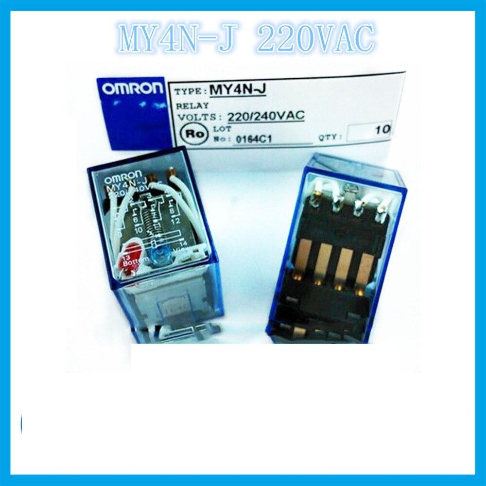 MY4NJ MY4N-J AC220V 5A przekaźnik omron dwa otwarte dwa zamknięte 14 igły element elektroniczny przekaźniki półprzewodnikowe
