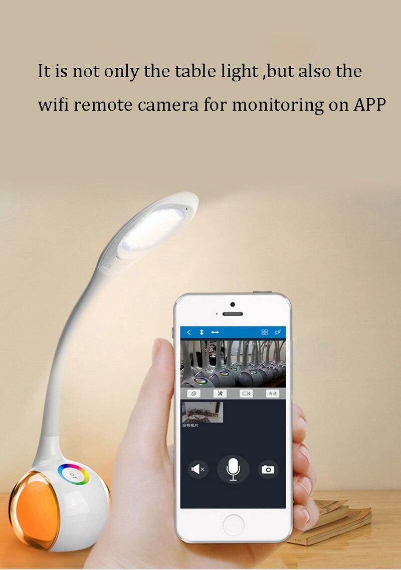 أحدث اللاسلكية عن بعد واي فاي كاميرا كاميرا مراقبة أي بي الطفل أفخم رصد إنترفون H.264 الأشعة تحت الحمراء للرؤية الليلية مصباح الطاولة كاميرا مر...