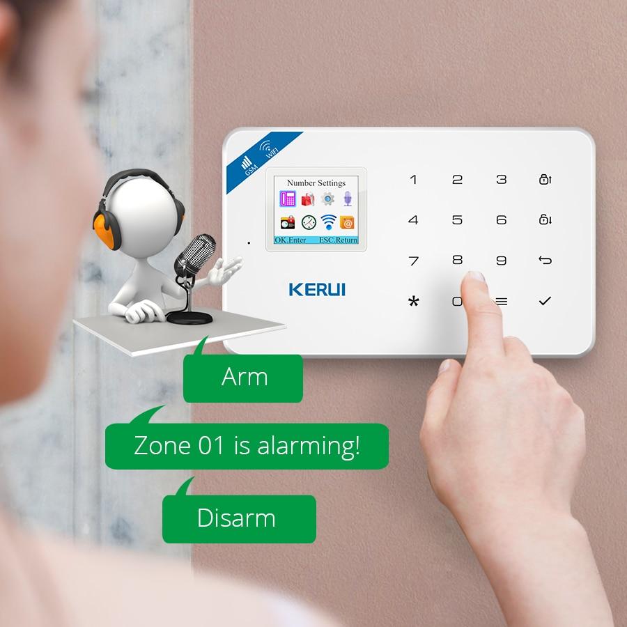 KERUI W18 GSM 2.4G WIFI Wireless Burglar Security Alarm System For Home Garden Villa Alarm Kit WIFI Outdoor Indoor IP Camera enlarge
