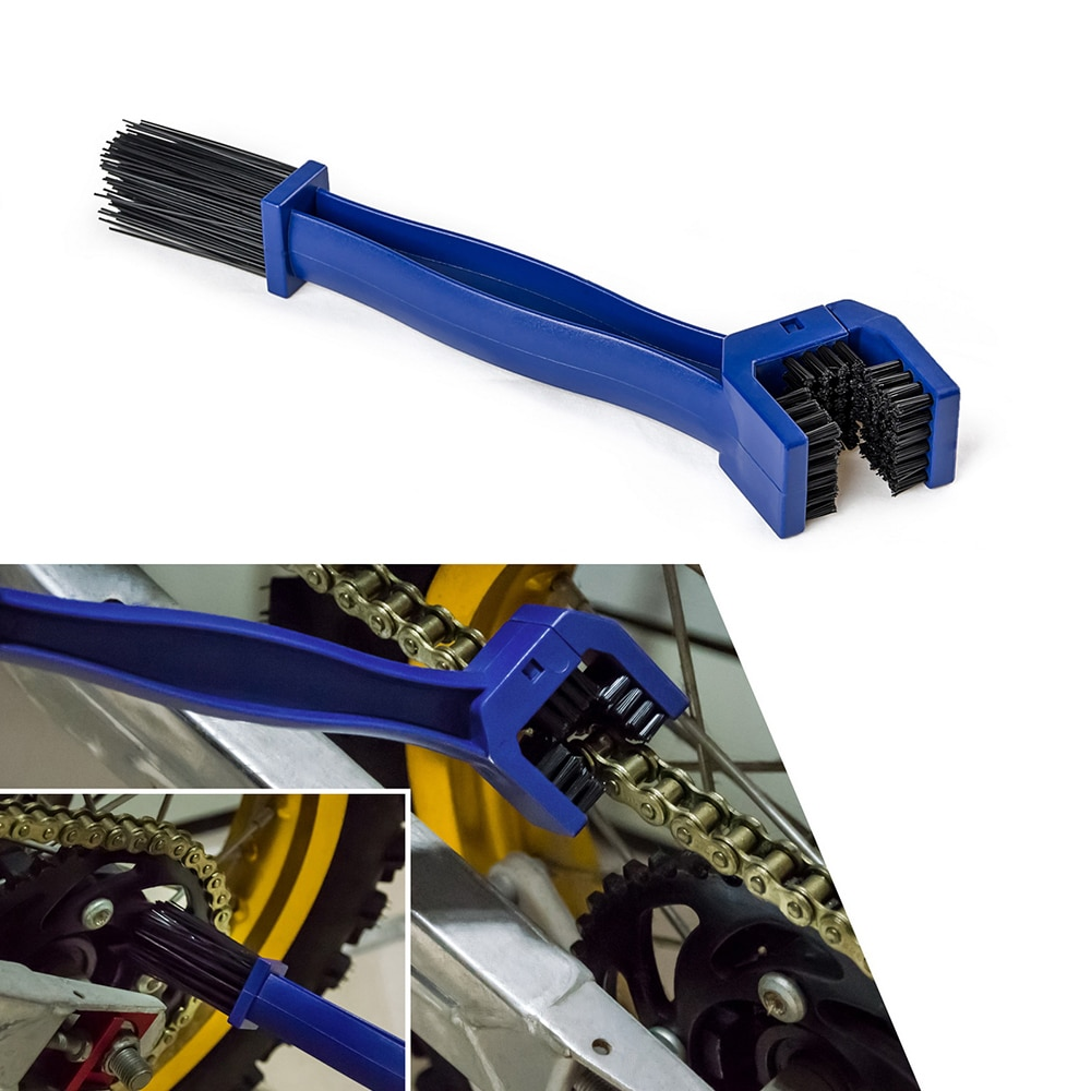 Motorcycle Chain Gear Dirt Clean Brush For Yamaha YZF FZ6 R1 R3 R6 R15 R25 MT07 MT09 XSR700 900 MT03 MT10