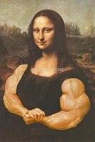 Offre Speciale Musculaire Personnalisee Mona Lisa Classique Mode Elegant Decor A La Maison Retro Affiche  50x76cm Sticker mural Livraison Gratuite U1-215