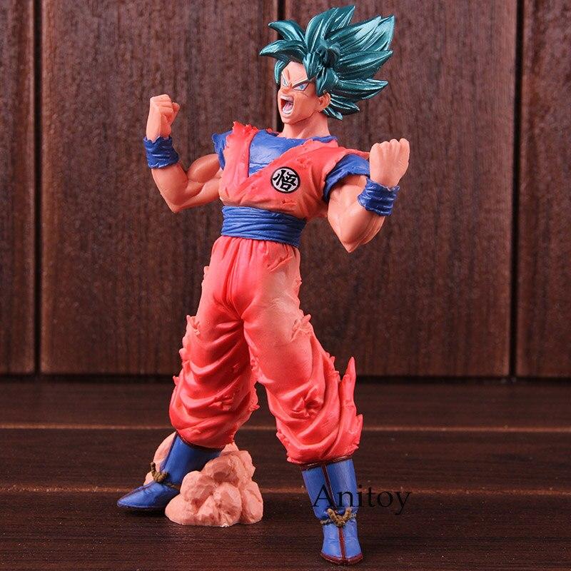 Dragon Ball Super Figure Action Blood of Saiyans Super Saiyan Son Gokou Kaioken Goku SSJ Blue PVC Collectible Model Toy