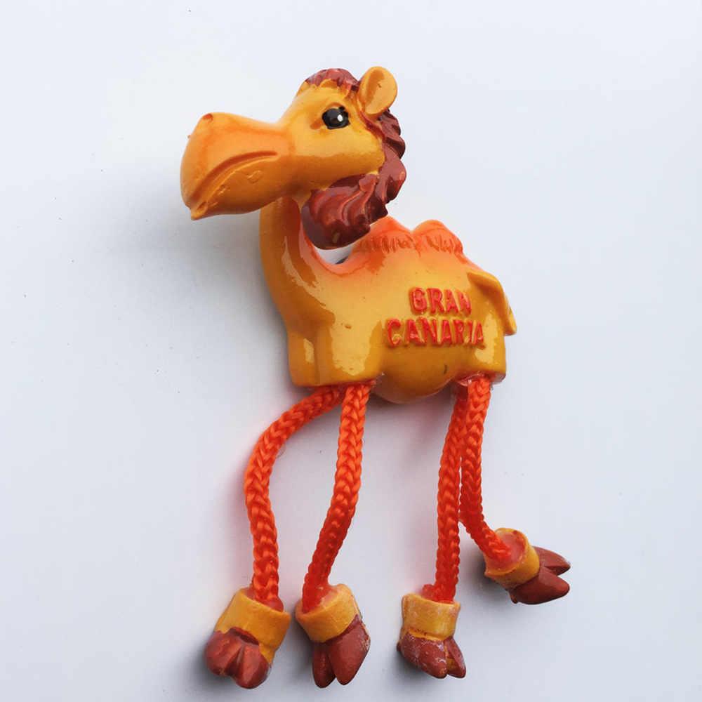 Babelemi Nette Gran Canaria Kamel Kühlschrank Magnetischen Aufkleber Cartoon Tier Form Kühlschrank Magnet Home Küche Dekoration Geschenk Kühlschrank Magnete Aliexpress