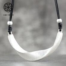 Colliers en métal Vintage femmes chaîne Simple collier à la main bijoux de mode collier réglable femme accessoires 10.5*10cm