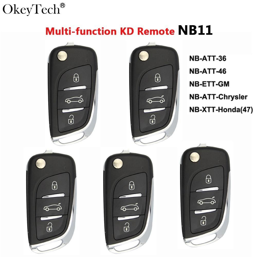 Okeytech 5PCS/LOT Multi-functional KD Key Remote Control Auto Car Key Keydiy 3BTN for Keydiy KD900 U