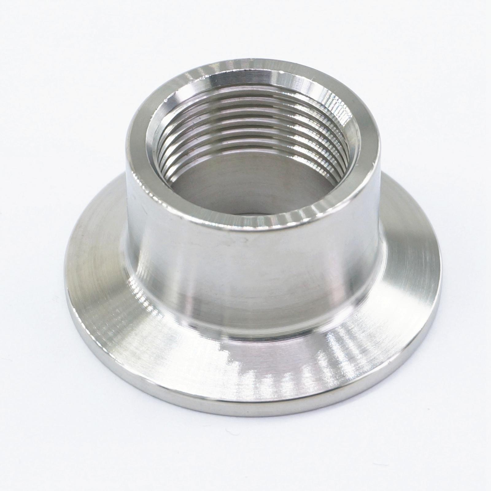 "3/4 ""BSPT hembra x 1,5"" Tri Clamp 50,5mm virola O/D 304 Acero inoxidable conector de instalación de tuberías sanitarias para Homebrew"