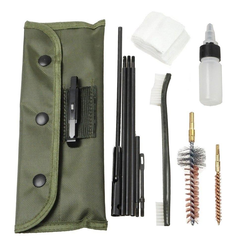 Kit Universal de limpieza de pistola AR-15/M16, Kit de limpieza culata para todas las versiones M16 y AR15, Juego de cepillos tácticos para Rifle y pistola