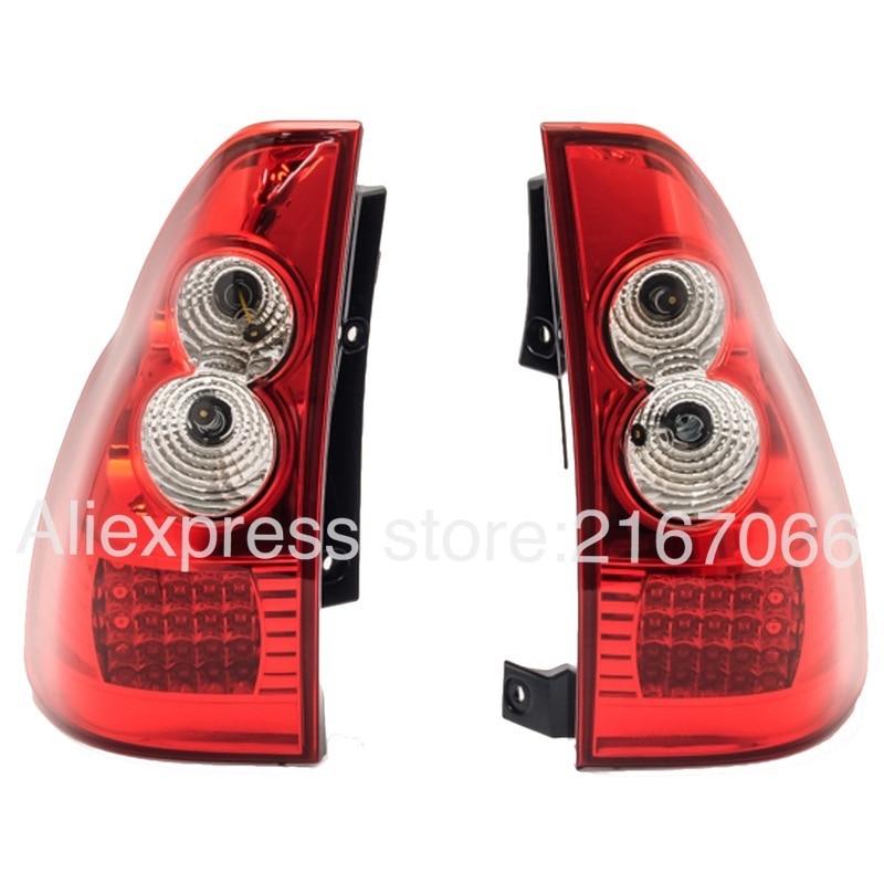 Luces traseras LED para Toyota Land Cruiser PRADO 2002-2009, juego de lámparas traseras izquierda + derecha, par de ajuste rojo