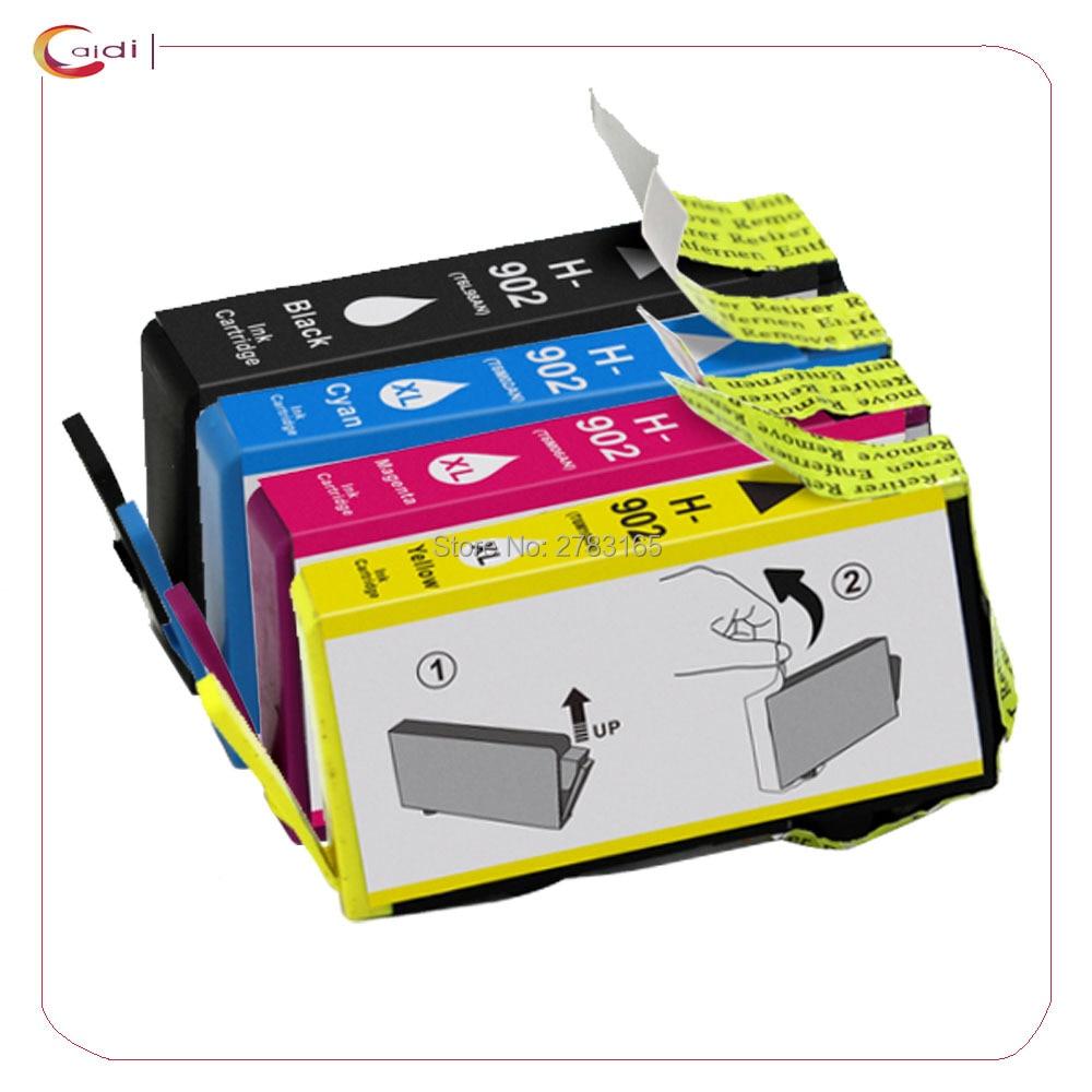 4 pacote compatível para hp 902 902xl cartuchos de tinta uso com hp officeje 6968 6978 6970 6975 6951 6954 impressora
