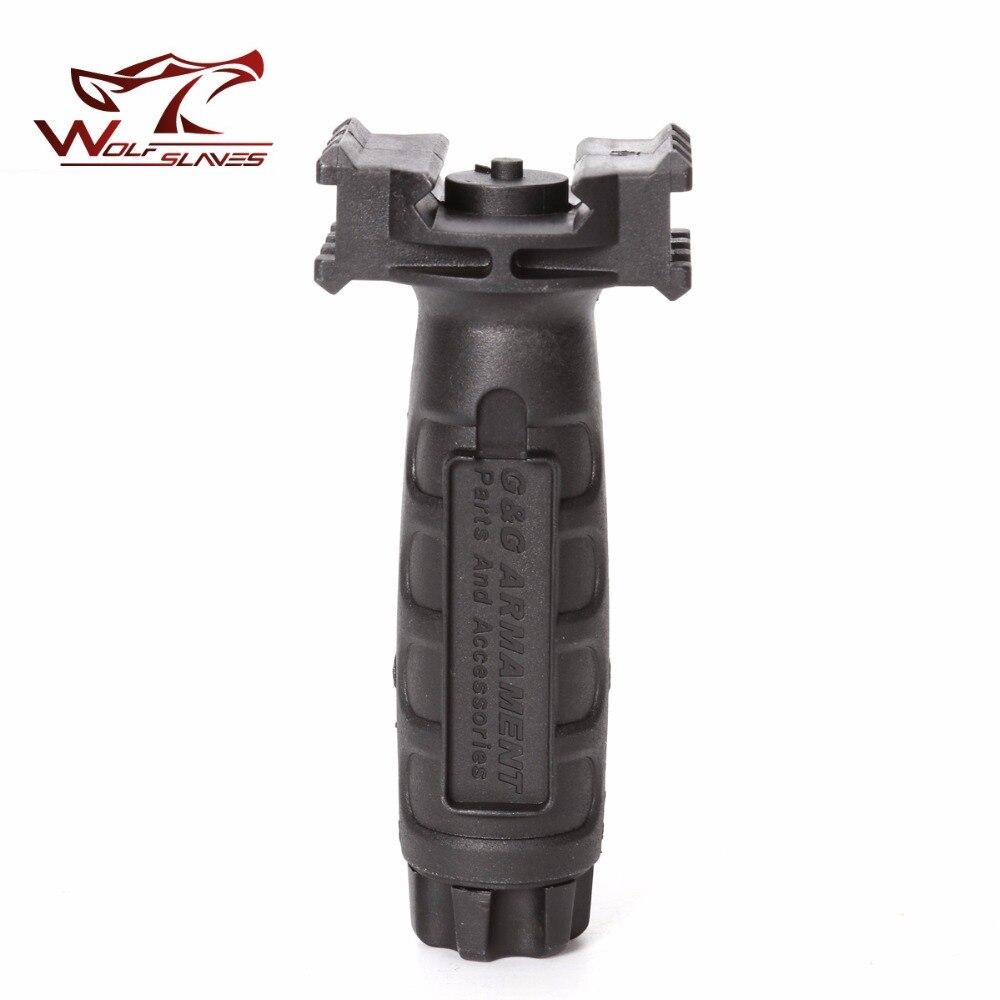 Recién llegado, agarre de mano, accesorios de agarre Vertical para caza al aire libre del ejército con guía de 20-21cm para juguete NERF G un agarre táctico