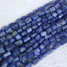 "Azul Kyanite naturais Genuíno Primas Minerais/Mão Cut Facetada Esferas Pepita Forma Livre Solto Fosco Áspero 6-8mm 15 ""05391"