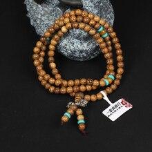 Cindiry Brand 108 *8mm/108*6mm Wenge Prayer Beads Tibetan Buddhist Mala Buddha Bracelet Rosary Wooden Bangle Jewelry P1