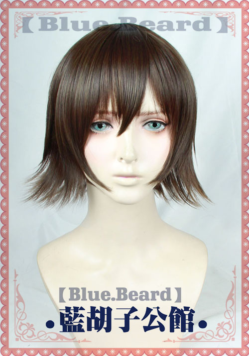 Anime FF15 FF15 fantasía Final 15 Iris Amicitia Cosplay peluca corta de lino gris marrón resistente al calor Peluca de pelo sintético + peluca Cap
