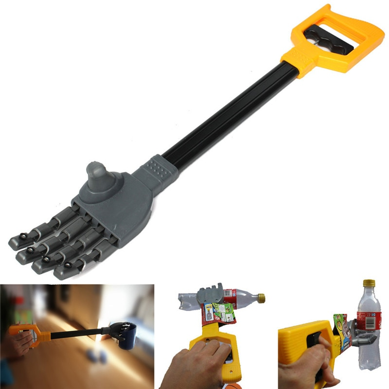 Gran oferta, garra Robot de plástico, agarre de mano, palo de agarre para chico, juguete para mover y coger cosas