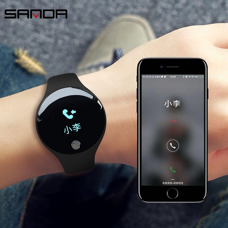 Reloj inteligente con Bluetooth resistente al agua para hombres y mujeres, podómetro, rastreador de Fitness, recordatorio de llamada, reloj inteligente para IOS, Android, reloj femenino
