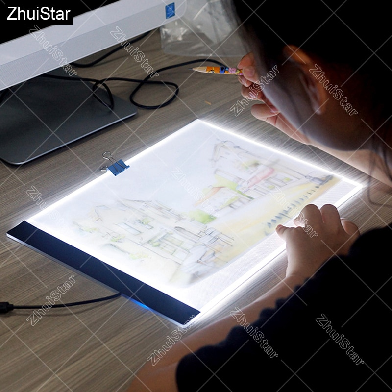 Ultrathin 3.5mm A4 LED Light Tablet Pad Apply to EU/UK/AU/US/USB Plug Diamond Embroidery Diamond Painting Cross Stitch XSH
