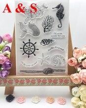 E20 sirena mar dama transparente de silicona sello/sello DIY Scrapbooking/foto álbum de sellos
