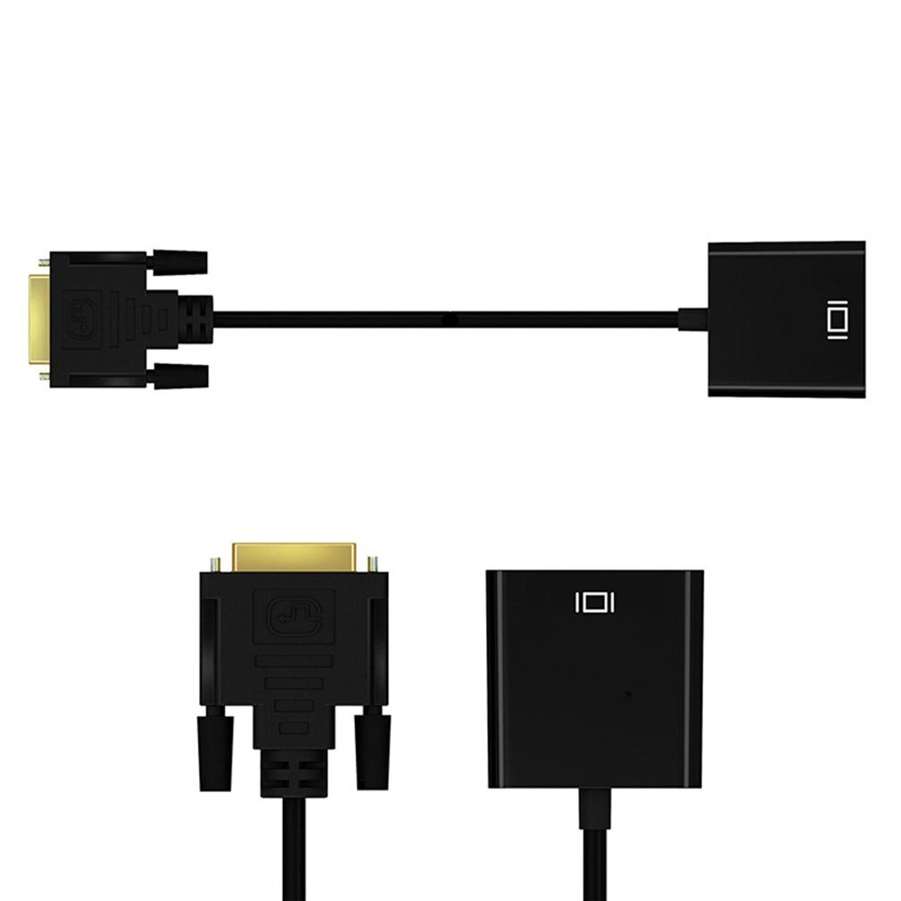 Adaptador/convertidor de vídeo DVI macho a VGA hembra, DVI-D de 24 + 1 25 pines a Cable, adaptador VGA para TV PS3 PS4 PC Display 1080P