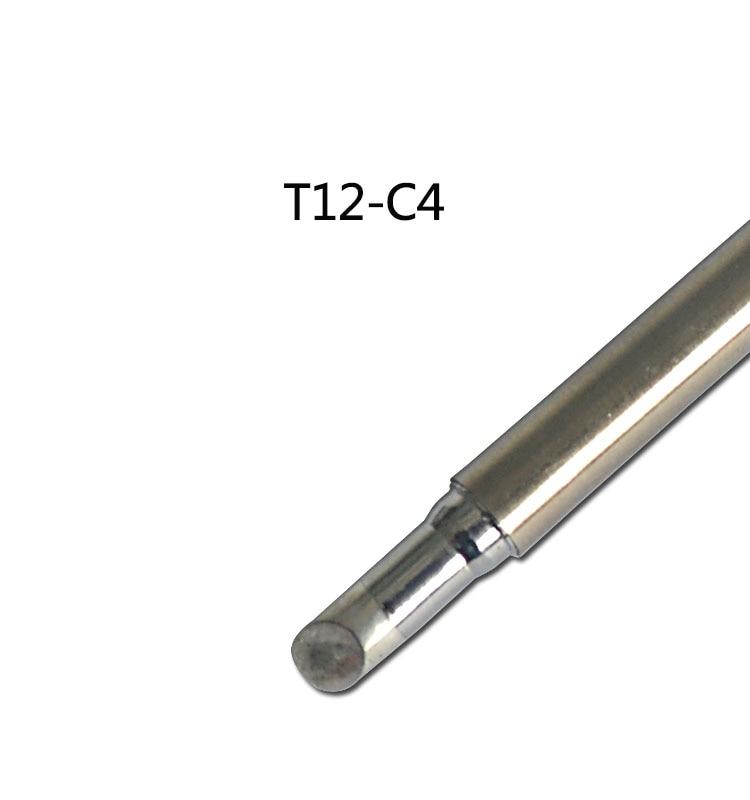 Gudhep T12 Soldering Iron Tips T12-C4 Replacement Tips for FX950 FX951 Soldering Rework Station