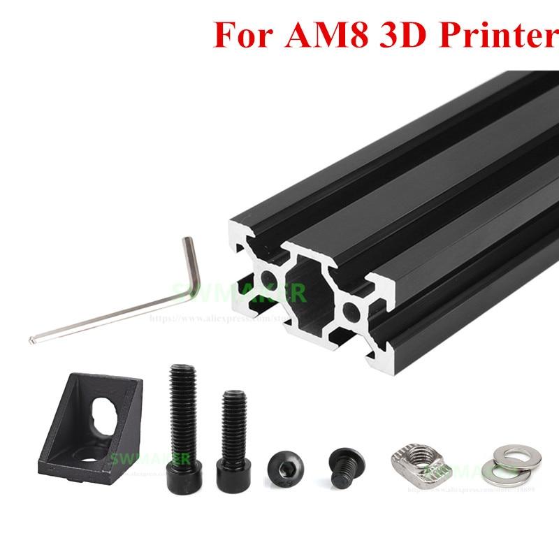 مجموعة واحدة من إطار التشكيل الجانبي لطابعة AM8 3D من الألومنيوم والمعدن مع زاوية حامل المسمار المكسرات لأجزاء طابعة Anet A8 3D